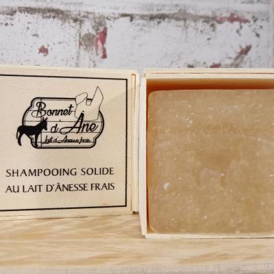 Shampooing solide enrichi au lait d'ânesse