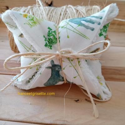 Petit pochon (lingette ecolo+savon au lait d'ânesse)